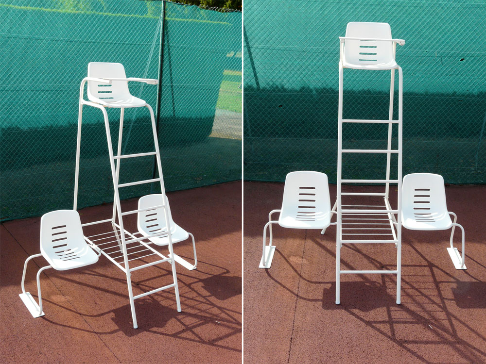 Chaise arbitre et joueurs de tennis rv sports for Chaise arbitre tennis